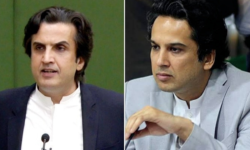 This combo photo shows federal Minister for Industries and Production Khusro Bakhtiar (left) and Punjab's Finance Minister Hashim Jawan Bakht. — Photos APP/File