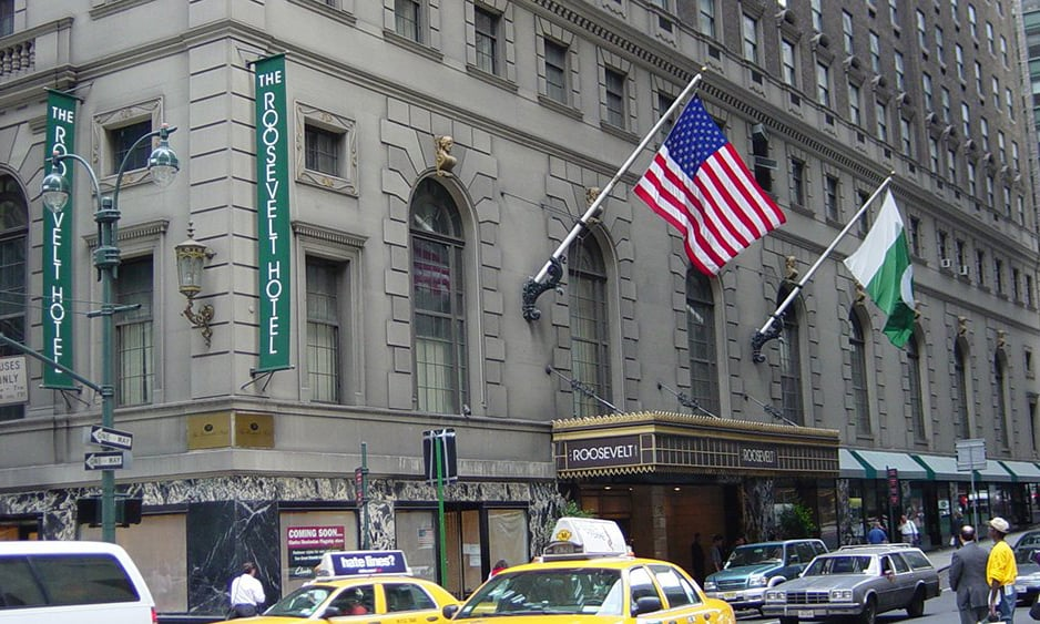 This photo shows the  PIA-owned Roosevelt Hotel in New York. — Photo courtesy PIA Twitter