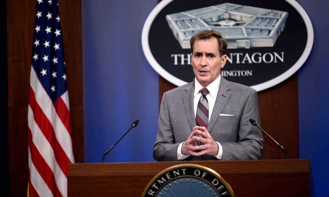 Pentagon Press Secretary John F. Kirby briefs reporters at the Pentagon on Feb 26. — Photo courtesy: US Department of Defence website