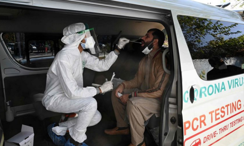 While coronavirus continues to infect masses across the country, Pakistan has reported the lowest positivity rate since March 9. — AFP/File