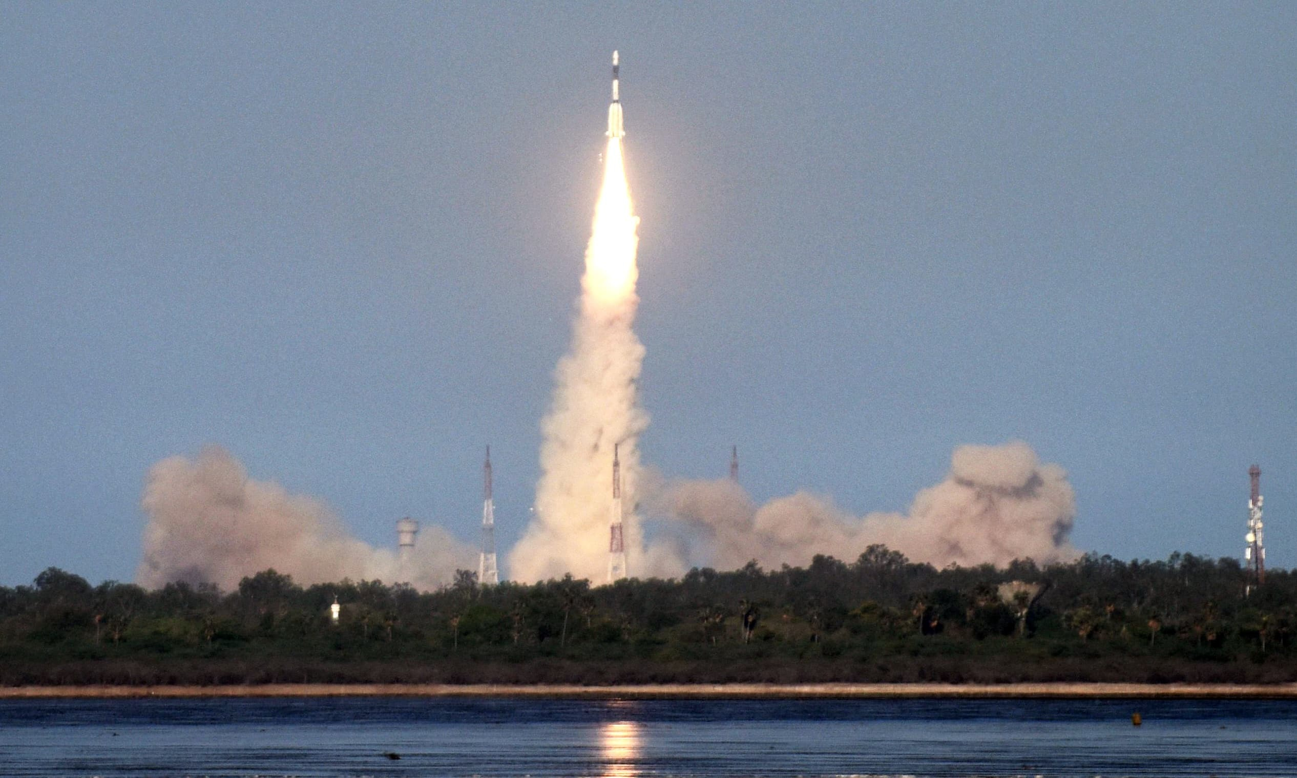 In this file photo, the Indian Space Research Organisation's GSAT-9 on board the Geosynchronous Satellite Launch Vehicle (GSLV-F09), launches in Sriharikota in the state of Andhra Pradesh. —AFP/File