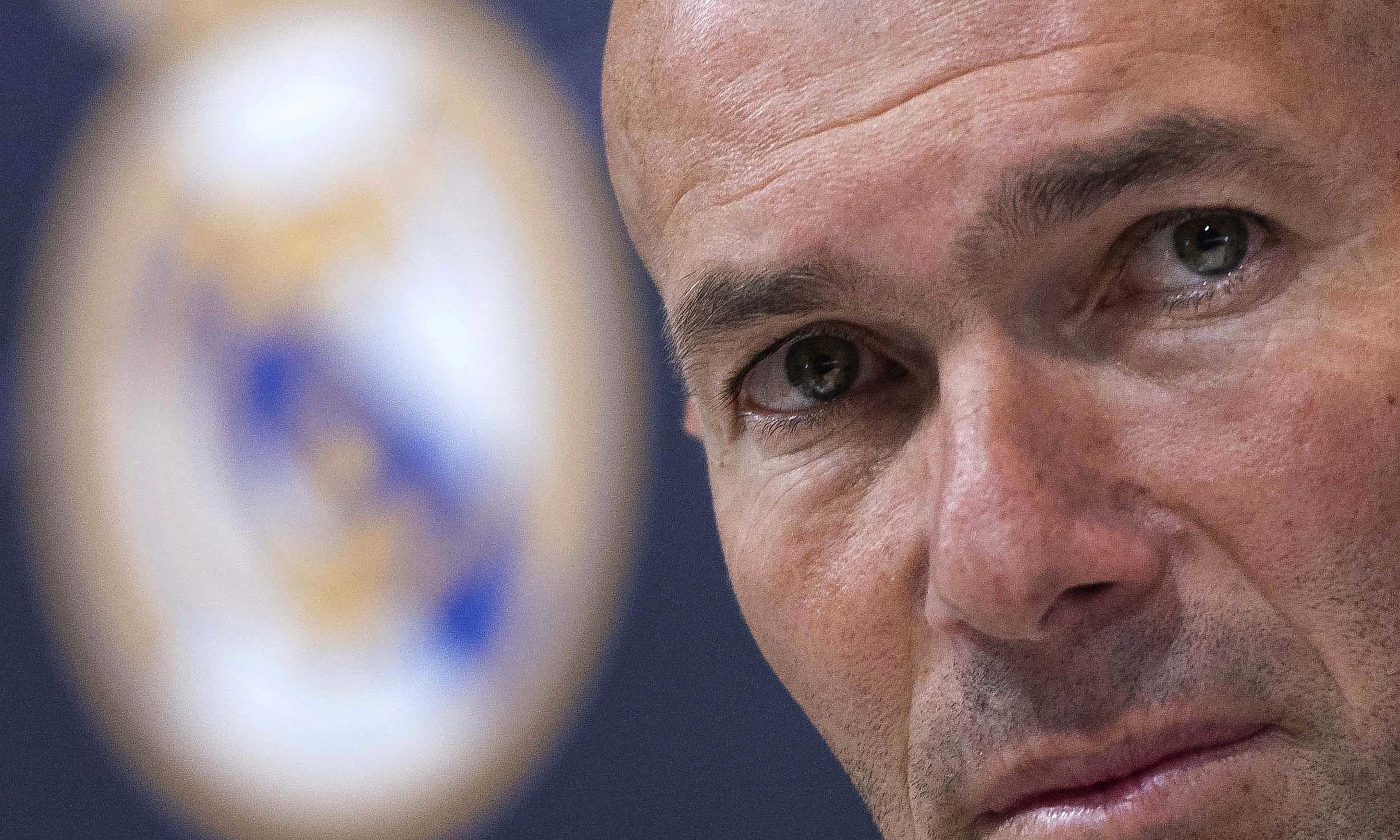 In this file photo, Zinedine Zidane listens to the questions of journalists during a press conference in Madrid. — AP