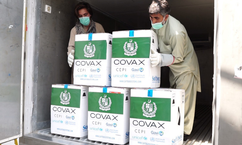 The announcement of the vaccine's arrival was shared by Unicef Pakistan on Twitter. — Photo courtesy Unicef Pakistan Twitter