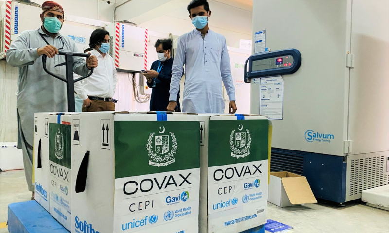 The news of over 100,000 Pfizer vaccines reaching Pakistan had been announced by Unicef through a tweet on Friday.  — Photo courtesy Unicef Twitter