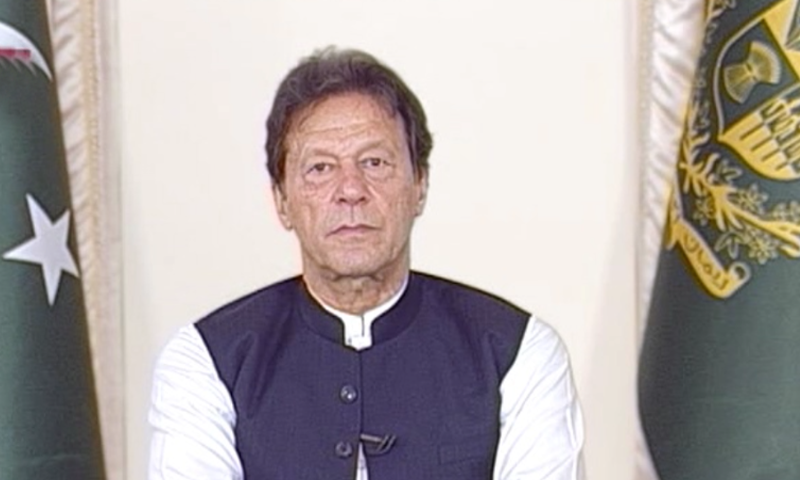 Prime Minister Imran Khan interacts with the with the nation in a Q&A session on Sunday. — DawnNewsTV