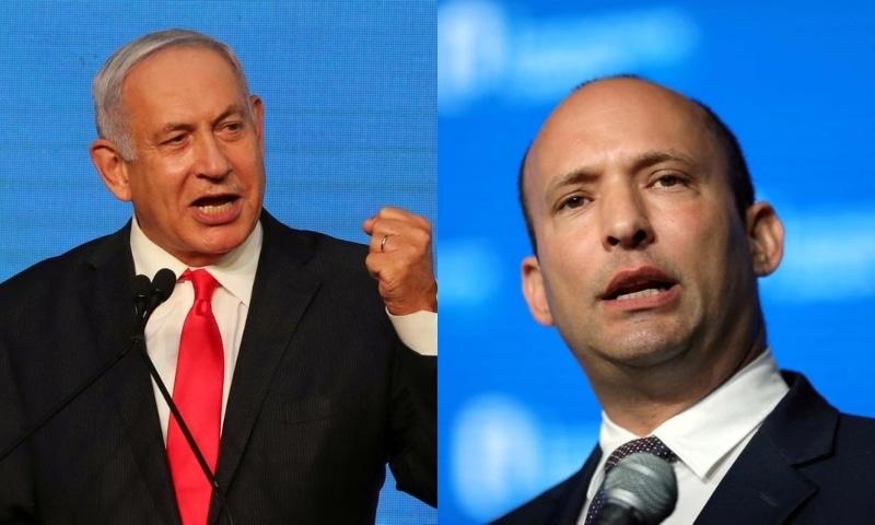 Prime Minister Benjamin Netanyahu (L) and Naftali Bennett. — Reuters/File
