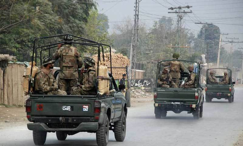 Four soldiers were martyred and eight others injured in two attacks in Balochistan on Monday night, the Inter Services Public Relations said. — File