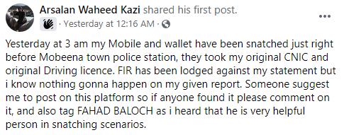 Screenshots taken from post on Halaat Updates Facebook.