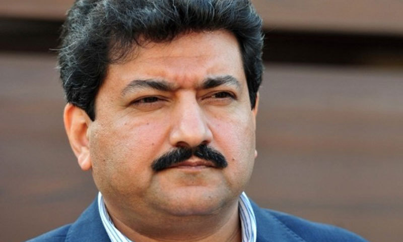 """Veteran journalist Hamid Mir was reportedly been """"sent on leave"""". — AFP/File"""