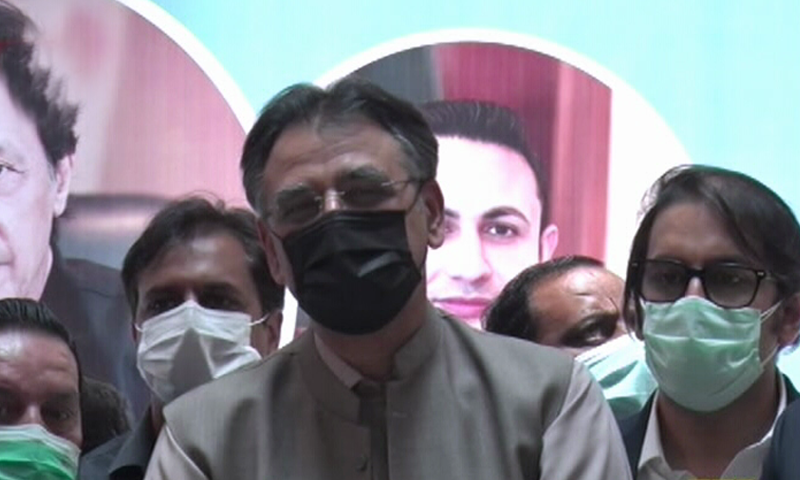 Asad Umar warned that countries not accepting vaccination certificates of Chinese vaccines would turn out to be a problem for the entire world if a decision was not taken on the issue at the global level. — DawnNewsTV