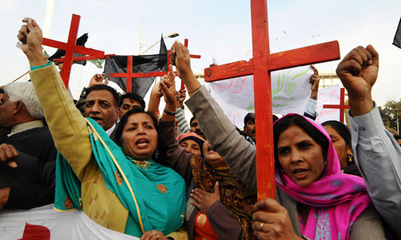 Shafqat Emmanuel and Shagufta were sentenced to death by a court in Toba Tek Singh in 2014. — AFP/File