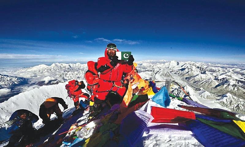 Sirbaz Khan on Everest