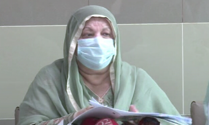 Punjab Minister for Health Dr Yasmin Rashid says the coronavirus situation is improving in the province and the positivity rate has fallen down to two per cent. — DawnNewsTV/File
