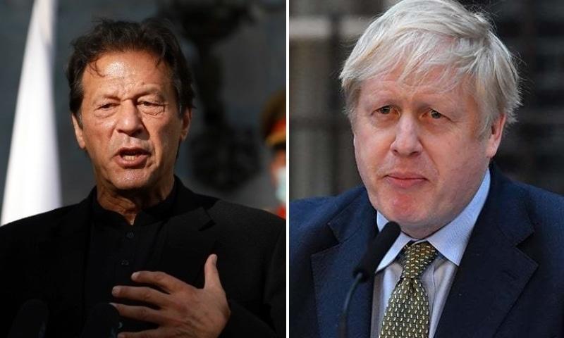 This combo photo shows Prime Minister Imran Khan (left) and British Prime Minister Boris Johnson. — AFP/AP/File