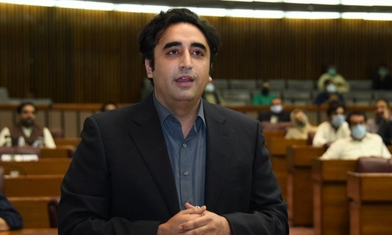 Bilawal Bhutto Zardari asked the chair to defer the agenda and allow a debate on the incident. — Photo courtesy NA Twitter