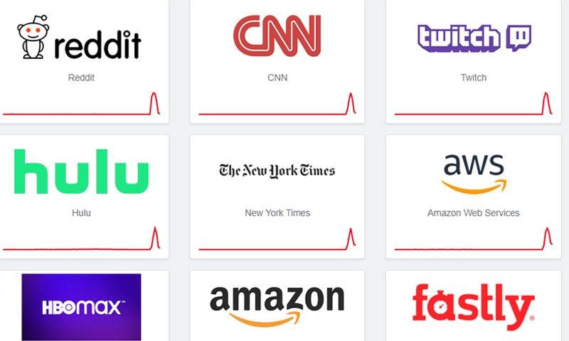 سی این این اور ریڈٹ جیسی ویب سائٹس بھی بند رہیں—اسکرین شاٹ ڈاؤن ڈٹیکٹر