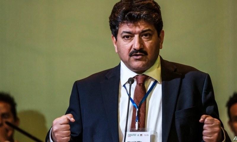 This file photo shows veteran journalist Hamid Mir. — AFP