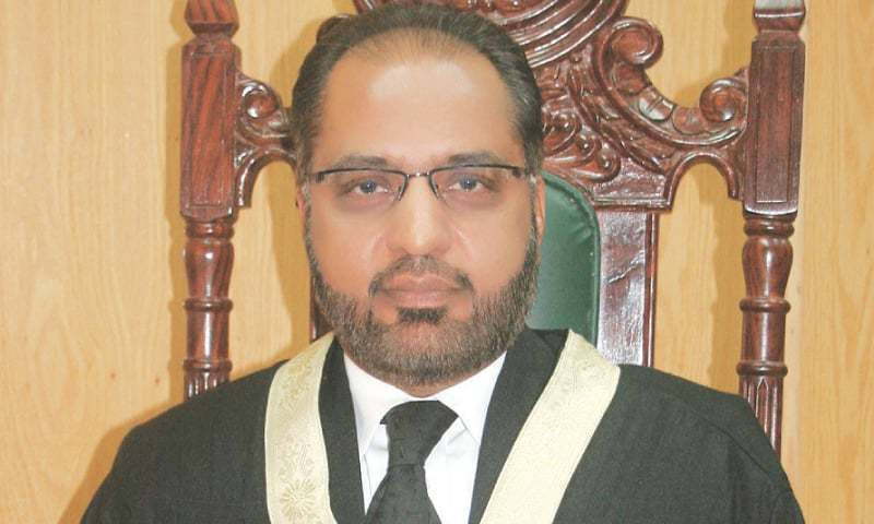 This file photo shows former outspoken judge of the Islamabad High Court (IHC) Shaukat Aziz Siddiqui. — File