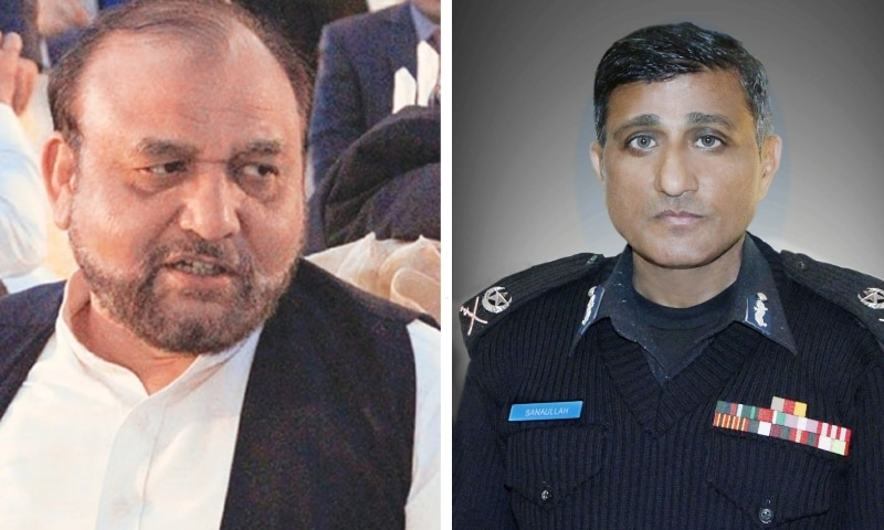 This combo photo shows Wajid Zia (left) and Sanaullah Abbasi. the latter has been appointed the new director general of the Federal Investigation Agency. — Photo courtesy KP Police Website/File