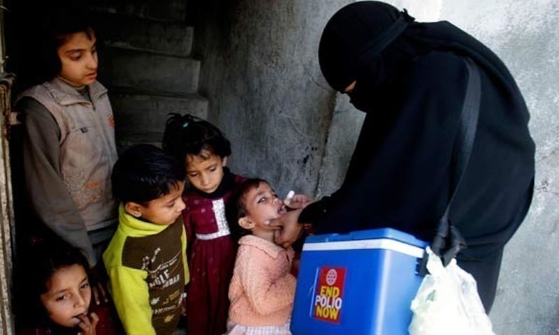During the meeting co-chaired by Health Minister Dr Azra Pechuho and Chief Secretary Syed Mumtaz Ali Shah, the delegation was briefed about the government's anti-polio efforts. — AFP/File