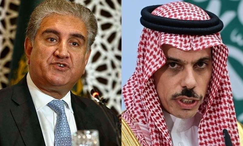 This combo photo shows Foreign Minister Shah Mahmood Qureshi (left) and Saudi Foreign Minister Prince Faisal bin Farhan Al Saud. — Photos by AP and Reuters