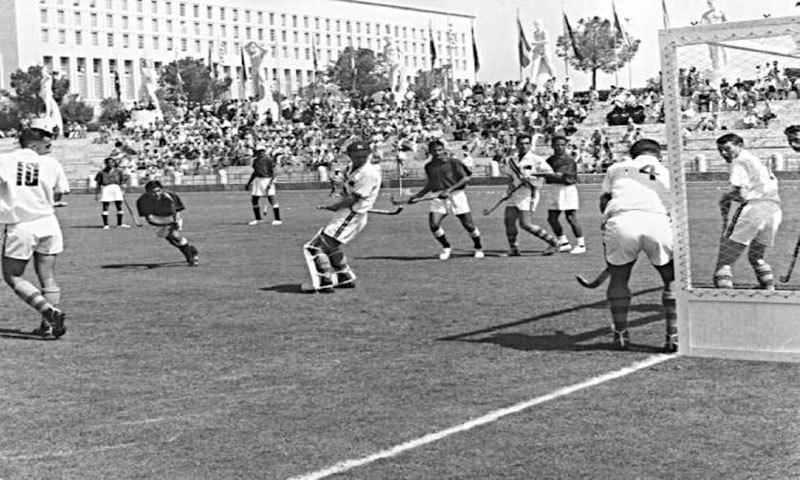 Pakistan playing against Australia during the 1960 Rome Olympics