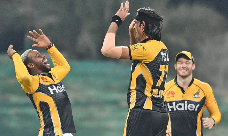 Peshawar Zalmi batted like potential champions as the 2017 title winners bounced back from a horrendous start to collect an imposing tally of 197-5. — Photo courtesy: PCB