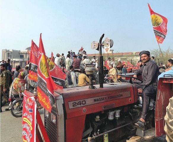 Farmers protest against the Ravi Riverfront Urban Development Project in February | Courtesy Fizzah Sajjad