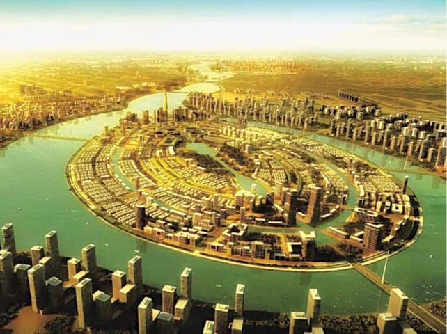A mock-up of the Dubai-like future Ravi City | Courtesy Ruda