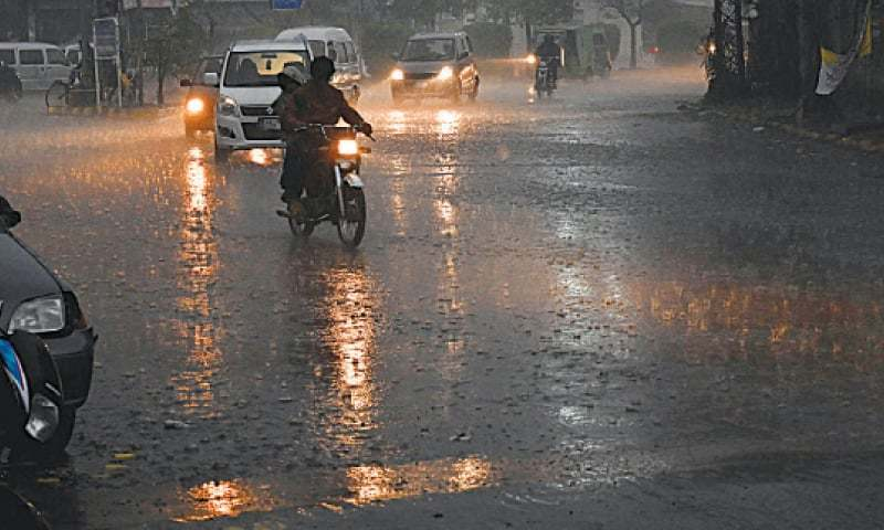 The Met Office has issued a warning stating that rain coupled with strong winds could generate urban flooding in low-lying areas of Rawalpindi over the weekend. — White Star/File