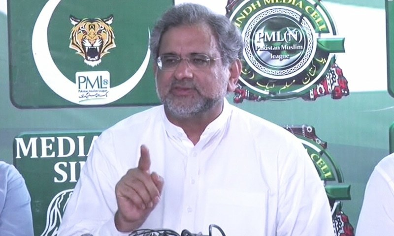 """""""This is an 'ATM budget' that benefits those who plunder national wealth,"""" says Shahid Khaqan Abbasi. — DawnNews"""
