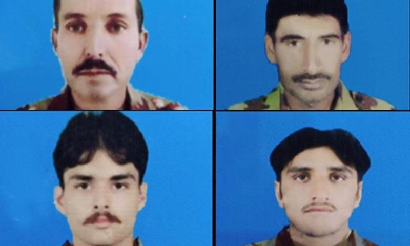 ایف سی بلوچستان کے جونیئرکمیشنڈ افسر سمیت 4 جوان شہید ہوئے—فوٹو: آئی ایس پی آر
