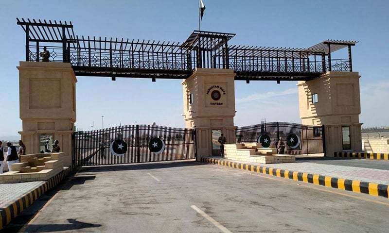 The 'Pakistan Gate' at Taftan, Balochistan is visible from a distance of two kilometres on both sides of the Pakistan-Iran border. ─ Photo Courtesy of ISPR/File