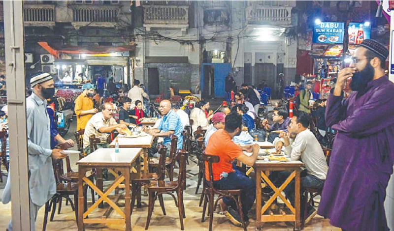 Hustle and bustle returns to Burnes Road as outdoor dining has resumed. —Fahim Siddiqi/White Star