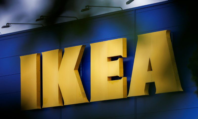 The company's logo is seen outside an IKEA Group store in Pace near Rennes, France. — Reuters