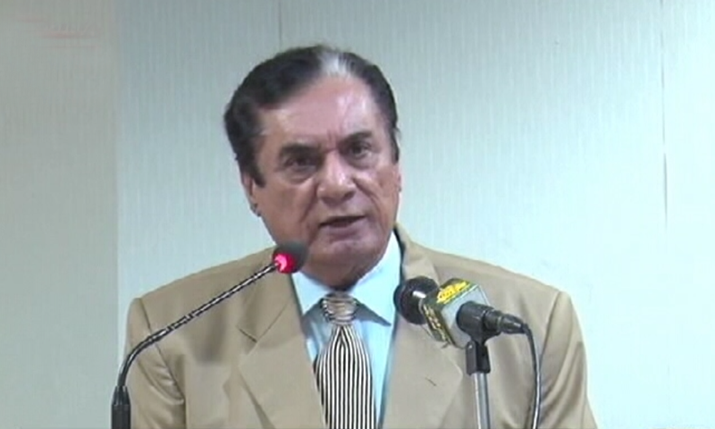 'This perception is wrong the NAB only catches 'small fish', we have even caught 'sharks and crocodiles', says chairman NAB. — DawnNews screengrab
