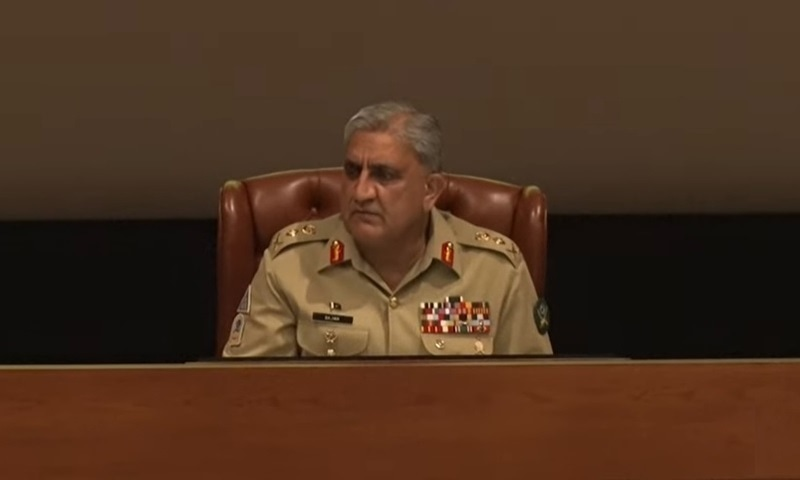 The army chief expressed satisfaction on progress of the stabilisation operations across Pakistan following the success of operation Raddul Fasaad. — Photo: ISPR
