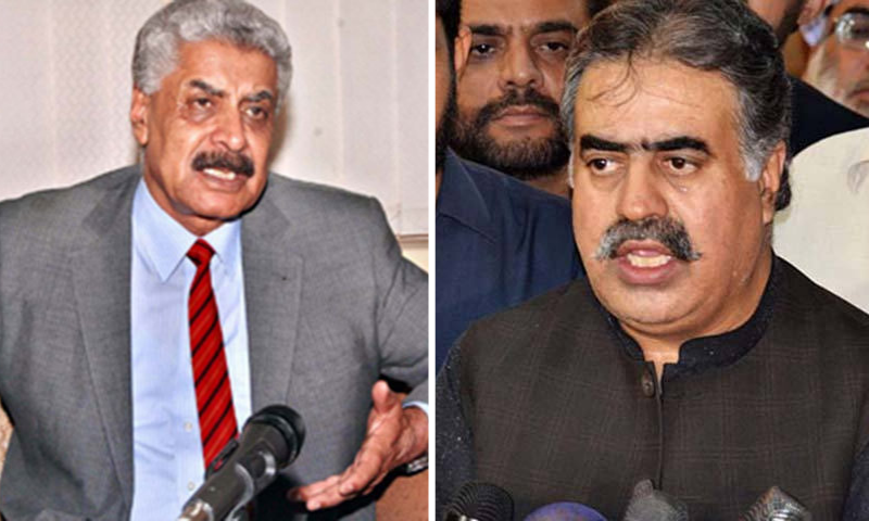 This combo photo shows former federal minister retired Lt Gen Abdul Qadir Baloch (left) and former chief minister of Balochistan Nawab Sanaullah Zehri. — APP/File