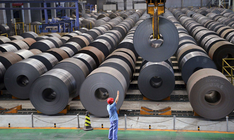 The steel industry on Tuesday reacted strongly over the decision of the government to withdraw Federal Excise Duty (FED) in former Fata districts and Pata areas. — Reuters/File