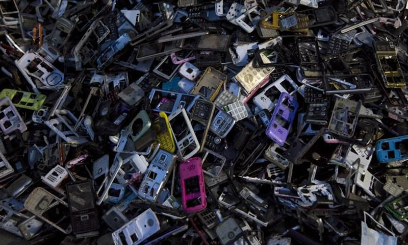 Karachi is the major location for e-waste recycling and dismantling in Pakistan. — Reuters/File