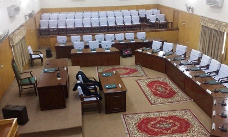 Azad Jammu and Kashmir (AJK) Legislative Assembly session was prorogued sine die by the chair on Wednesday without presentation of budget 2021-22. — Photo courtesy Herald