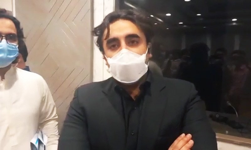 PPP Chairperson Bilawal Bhutto-Zardari speaks to reporters on Thursday. — Screengrab