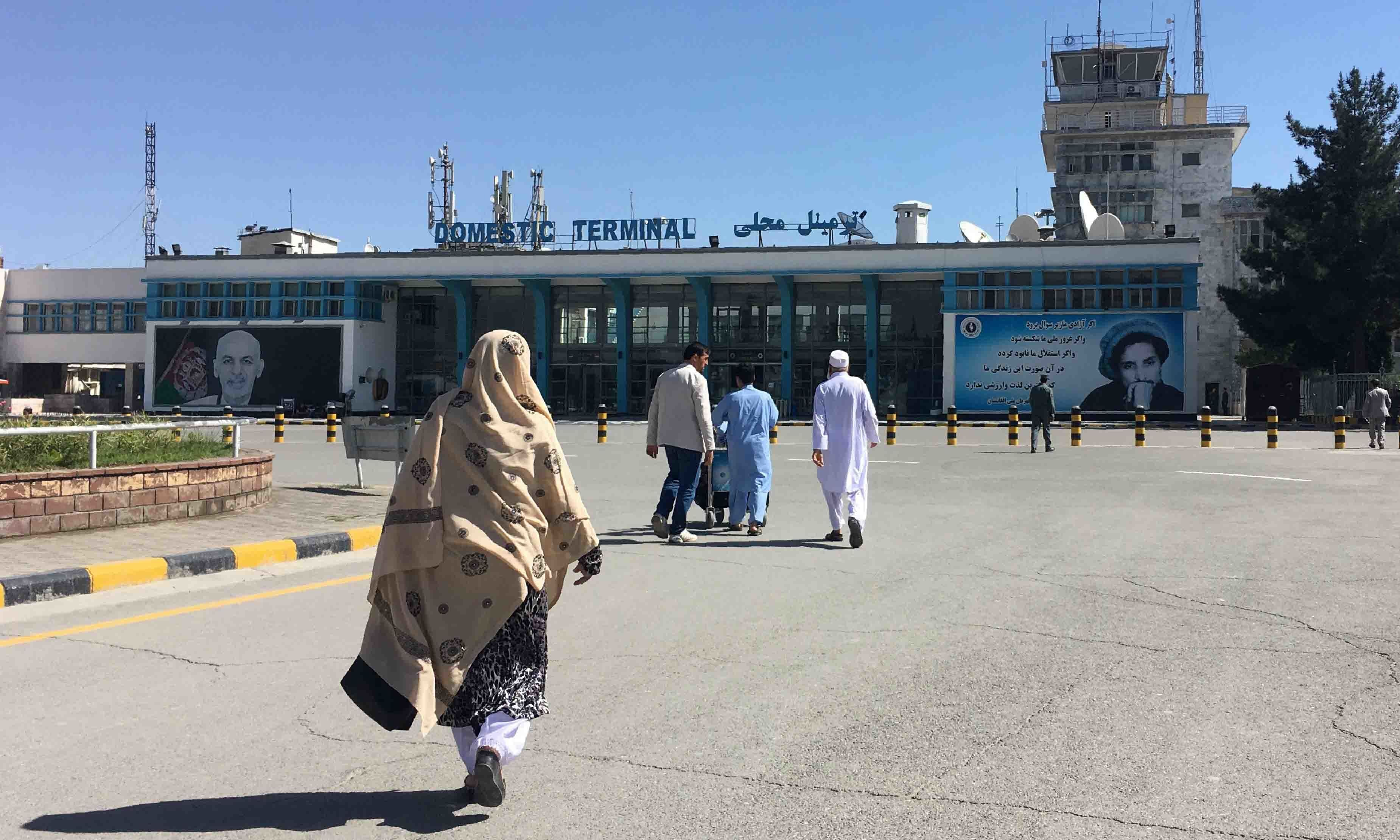 In this file photo taken on May 8, 2018, people arrive at the domestic terminal of the Hamid Karzai International Airport in Kabul. — AFP