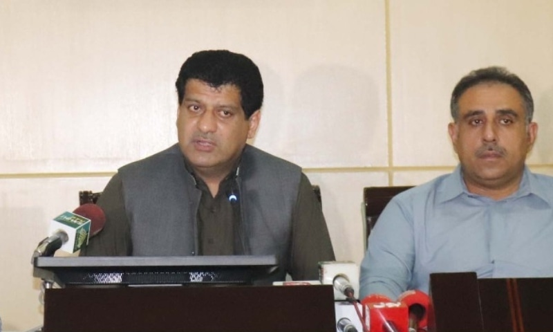 Finance Minister Mir Zahoor Ahmed Buledi (left) has said that the coalition government has decided to establish the province's own bank with the name of 'Balochistan Bank'. — Photo courtesy Balochistan Govt Twitter