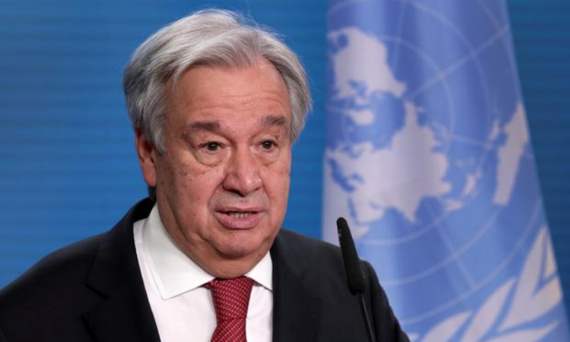 United Nations Secretary-General Antonio Guterres's second term begins on January 1, 2022. — Reuters/File