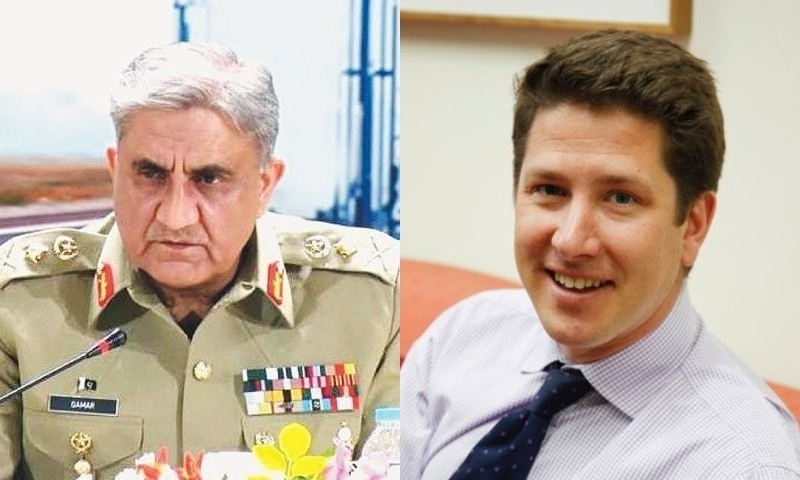 Chief of the Army Staff Gen Qamar Javed Bajwa (L) and British High Commissioner Dr Christian Turner. — INP/File and Twitter