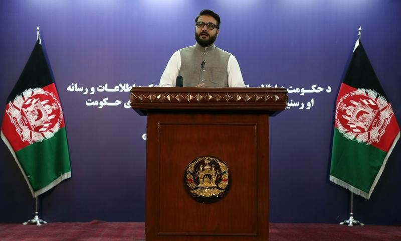 In this file photo, Afghanistan's National Security Advisor Hamdullah Mohib speaks during a news conference in Kabul, Afghanistan. — Reuters