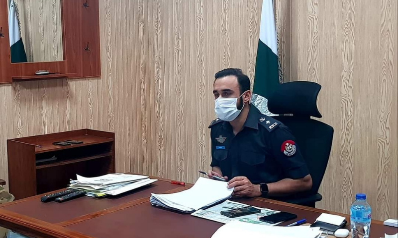 Khyber district police officer Wasim Riaz said some clerics from outside were allegedly involved in spread of sectarianism among local population on the basis of their religious beliefs. — Photo courtesy Wasim Riaz PSP Facebook