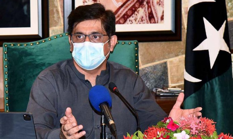 Chief Minister Murad Ali Shah remarked that cases would continue falling as long as the public kept following standard operating procedures (SOPs). — APP/File