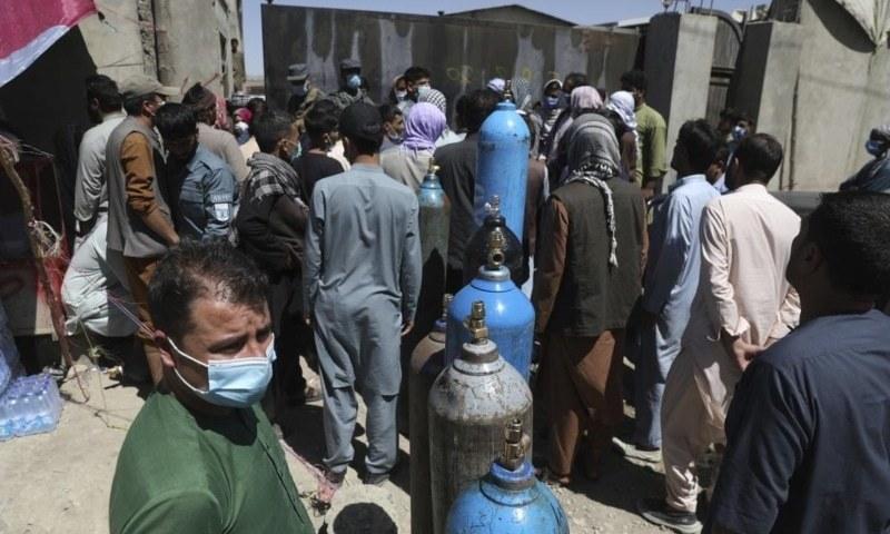 افغانستان میں کووڈ-19 بحران سنگین، آکسیجن کی کمی کا سامنا